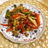 Shredded Pork with Green Bell Peppers and Bamboo Shoots