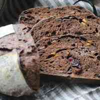 Pain de Campagne with Chocolate, Cranberries,and Yuzu Peel
