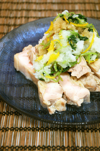 Light and Refreshing Steamed Chicken With Yuzu, Grated Daikon Radish and Ponzu Sauce