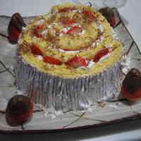 Log Christmas Cake with Roll Cake Batter