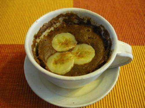 Mug Cake Made with Pancake Mix