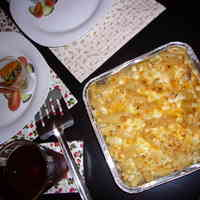 Easy Macaroni Gratin with Soy Milk