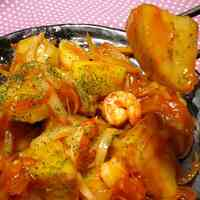 Hearty Shrimp In Chili Sauce With Potatoes