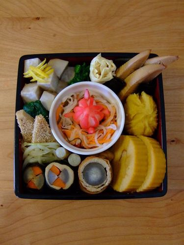 Egg-Free Macrobiotic Date-maki Veggie Osechi
