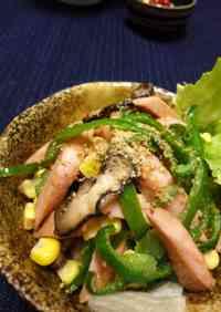 Stir Fried Fish Sausages with Sesame Flavor