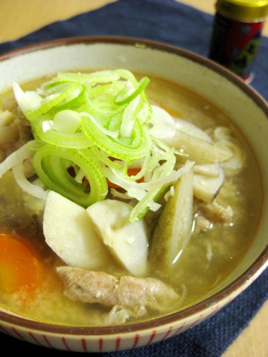 Pork Soup with Ginger and Lots of Root Vegetables