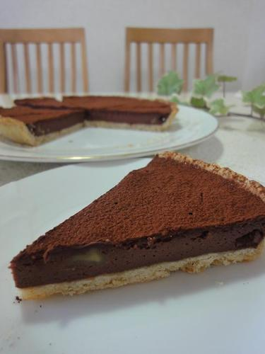Rum Scented Chocolate Tart for Valentine's Day