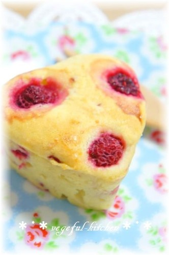 Raspberry Cheese Muffin (for White Day)