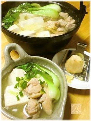 Gingery Chicken and Tofu Hot Pot