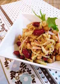 Fiber-Packed! Kiriboshi Daikon and Bean Salad