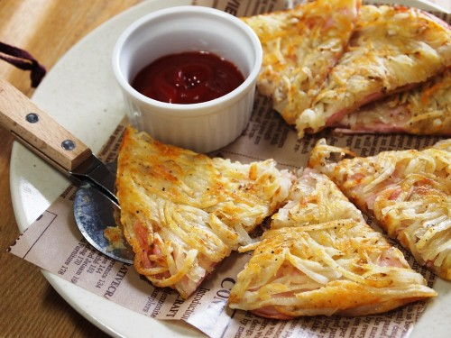 Easy Potato Galettes with Fish Sausage