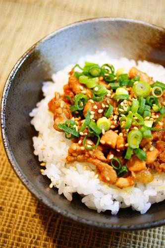 Garlic Pork Rice Bowl