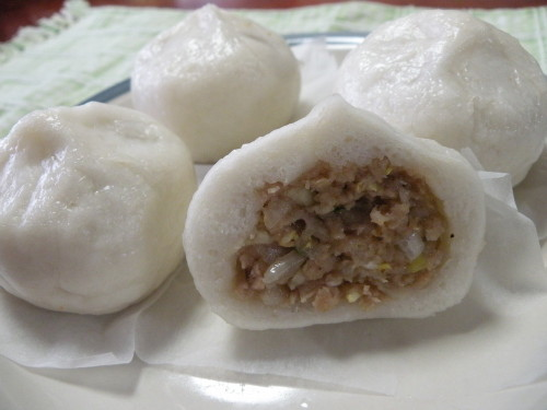 Steamed Pork Buns with Rice Flour for Wheat Allergies