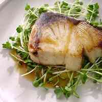 Pan-Fried Amberjack with Shiso Butter Sauce