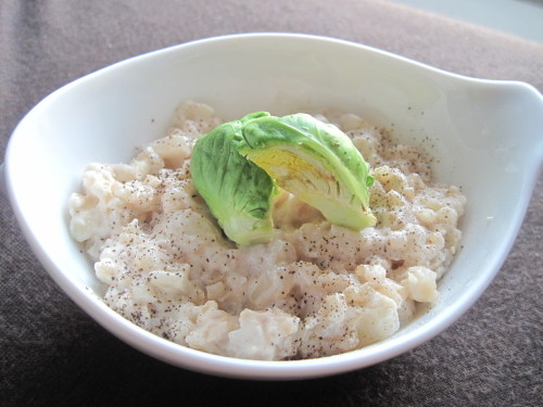 Macrobiotic Cream Risotto with Sake Lees & Soy Milk