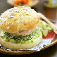 Tender Shrimp Patty and Avocado Burgers