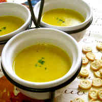 Soy Milk Soup with Kabocha Squash and Corn