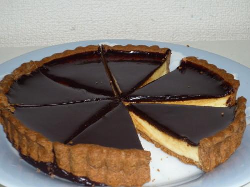 White Chocolate Tart For Valentine's Day