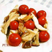 Bacon, King Oyster Mushrooms and Cherry Tomato Stir-fry
