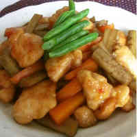 Tender Chicken Breast with Burdock Root