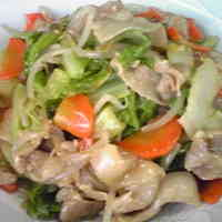 Stir-Fried Chinese Cabbage and Pork Belly in Thick Sauce