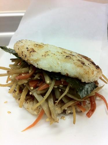 Kimpira Stir-fry Rice Burgers Just Like Mos Burger