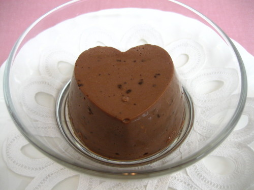 Valentine's Day Chocolate Bavarois Made Simply with Ice Cream