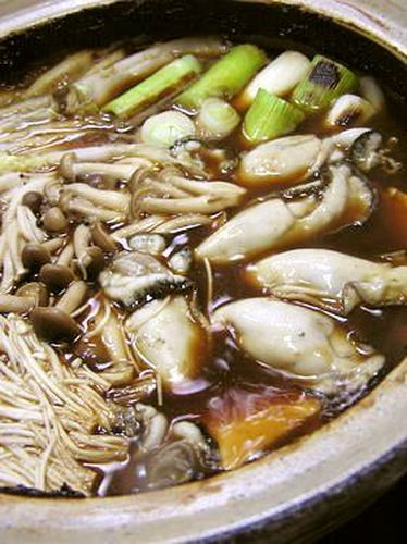 Oyster Hot Pot Made with Hatcho Miso