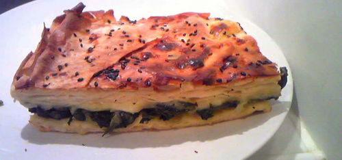 Spinach Pie - Börek (Turkish Food)