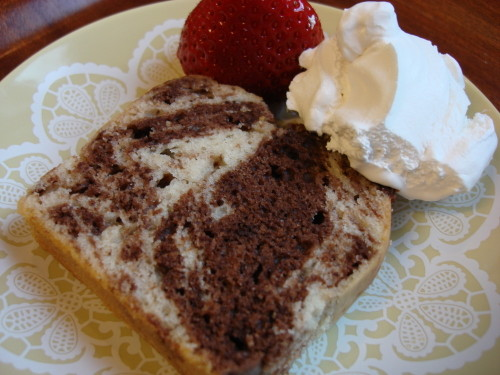 Macrobiotic Marbled Cocoa Pound Cake