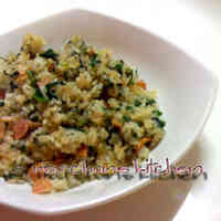 A Family Favorite: Japanese Flavored Spinach Fried Rice