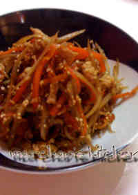 Rich and Delicious Kinpira with Ground Chicken