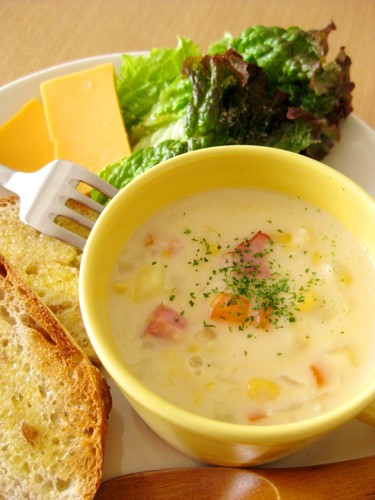 Corn Potage with Lots of Vegetables