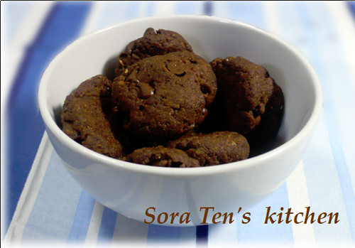 Okara Cookie with Cocoa Powder
