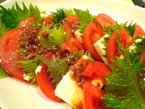 Tofu and Tomatoes With Anchovy Sauce