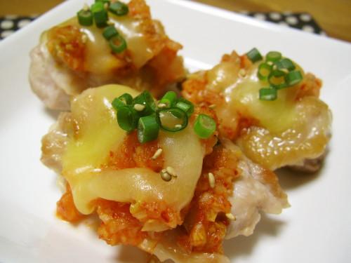 Juicy Kimchi Cheese Chicken