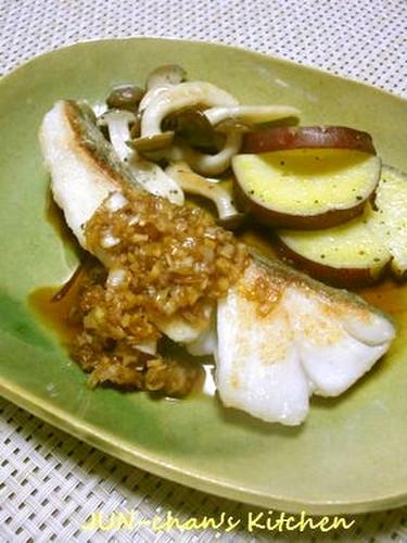 Pan Fried Cod with Leek Sauce