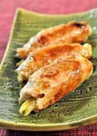 Whole Myoga Ginger Pork Rolls
