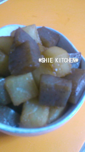 Sweet and Salty Stir Fried and Simmered Daikon Radish and Konnyaku