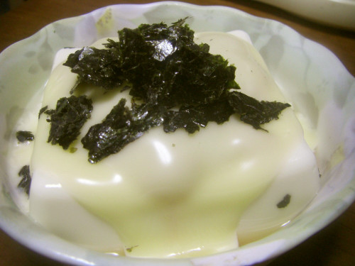 Hot Tofu with Umeboshi, Ginger and Cheese