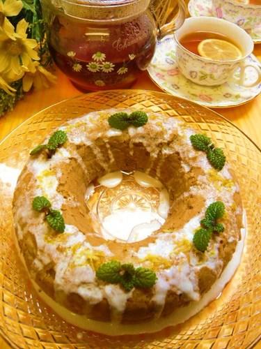 Black Tea Butter Cake with Lemon Icing