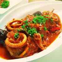 Squid and Eggplants in Tomato Sauce