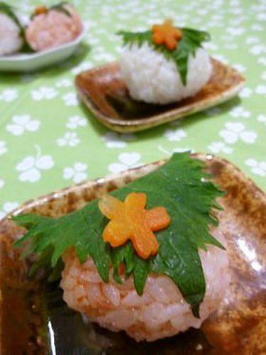 Shortcut Japanese Snack ~Sakura Mochi-Style Rice Balls