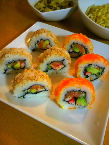 Colorful California Rolls