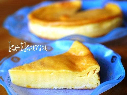 Super Easy Rich Kabocha Pudding Cake with Pancake Mix