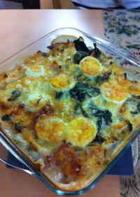 Brussels Sprout and Spinach Gratin