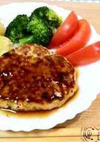 Soft Tofu Hamburg Steak: Japanese Style