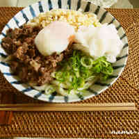 Authentic Sanuki-style Udon with Soft Poached Egg and Beef