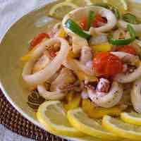 Squid & Vegetable Lemon-Butter Stir-fry