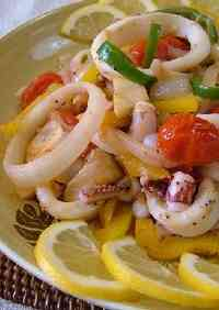 Squid & Vegetable Lemon-Butter Stir-fry
